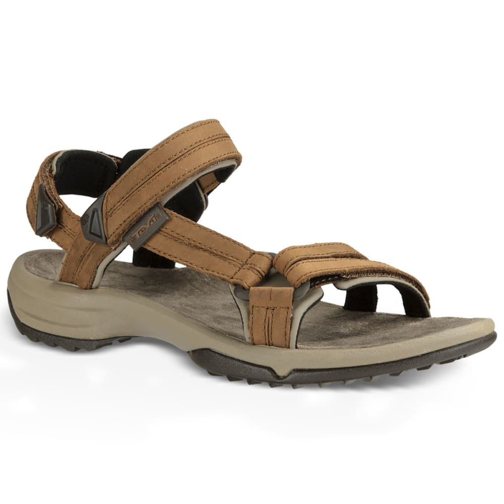 TEVA Women's Terra Fi Lite Leather Sandals, Brown - BROWN