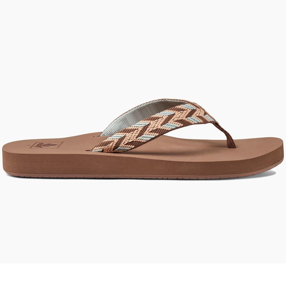 REEF Women's Mid Seas Sandals, Mocha Peach - MOCHA PEACH