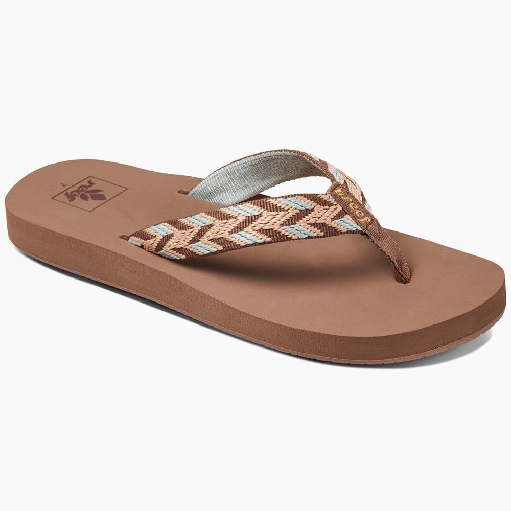 Reef Women's Mid Seas Sandals, Mocha Peach - Brown
