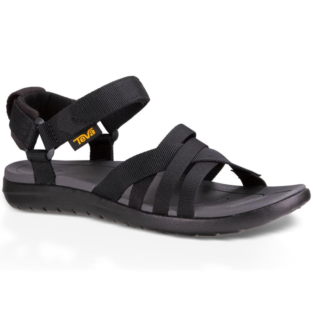 TEVA Women's Sanborn Sandals, Black - BLACK