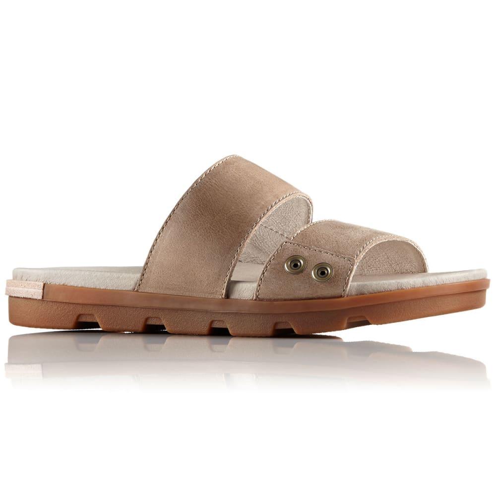 Sorel Women's Torpeda Ii Slide Sandals, Sahara/fossil - White