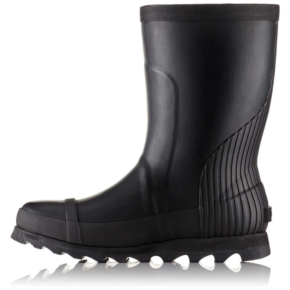 SOREL Women's Joan Rain Short Boots, Black/Sea Salt - Eastern ...