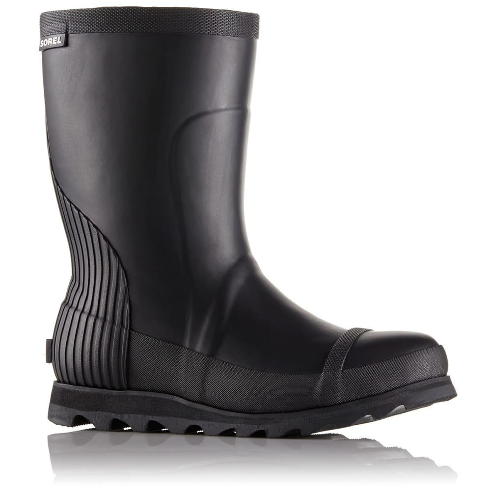 SOREL Women's Joan Rain Short Boots, Black/Sea Salt - BLACK