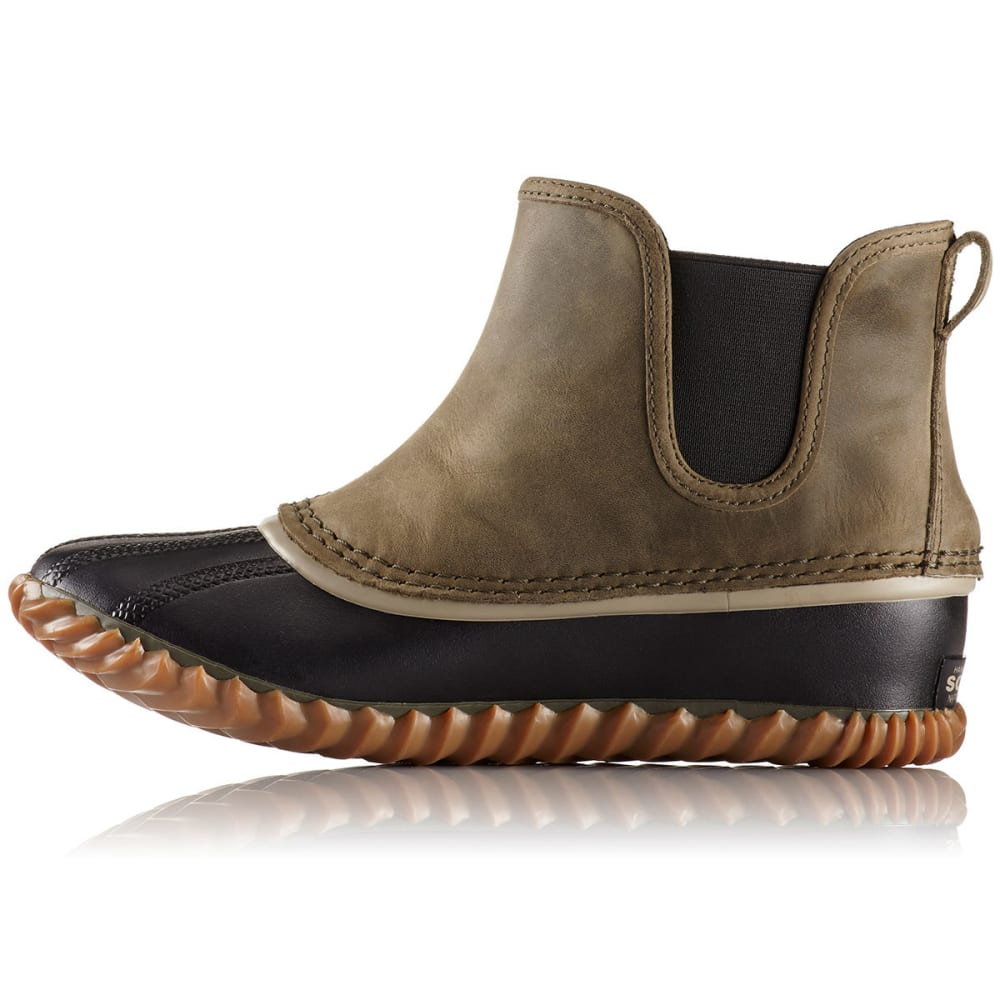 SOREL Women's Out N About Chelsea Duck Boots, Peatmoss - PEATMOSS
