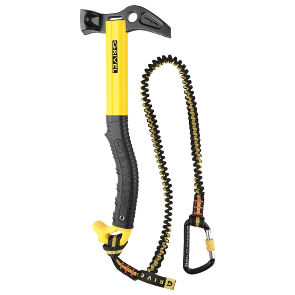 GRIVEL Thor Hammer with Leash - BLACK/YELLOW