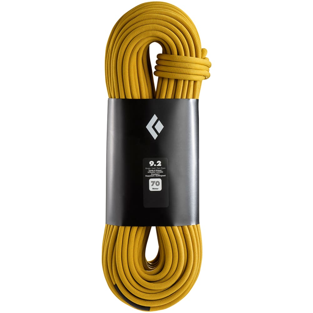 BLACK DIAMOND 9.2 MM x 70 M Climbing Rope - DUAL GOLD