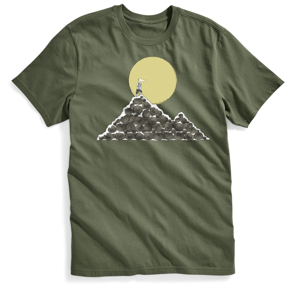 EMS Men's Log Mountain Graphic Tee - FOUR LEAF CLOVER