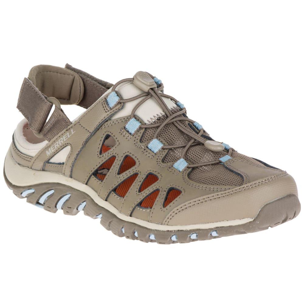 MERRELL Women's Valencia Hiking Sandals, Brindle/Powder Blue - BRINDLE/POWDER BLUE