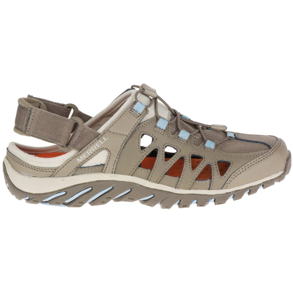 MERRELL Women's Valencia Hiking Sandals, Brindle/Powder Blue - BRINDLE/POWDER BLUE