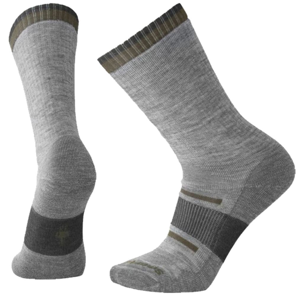 SMARTWOOL Men's Outdoor Advanced Medium Crew Socks - 039-LIGHT GRAY