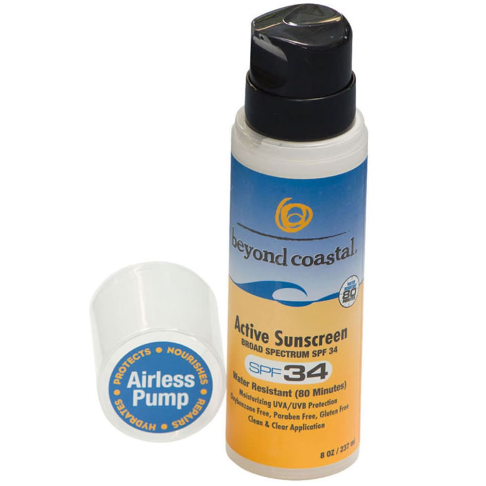 BEYOND COASTAL 8 oz. Active Sunscreen SPF 34 - NO COLOR