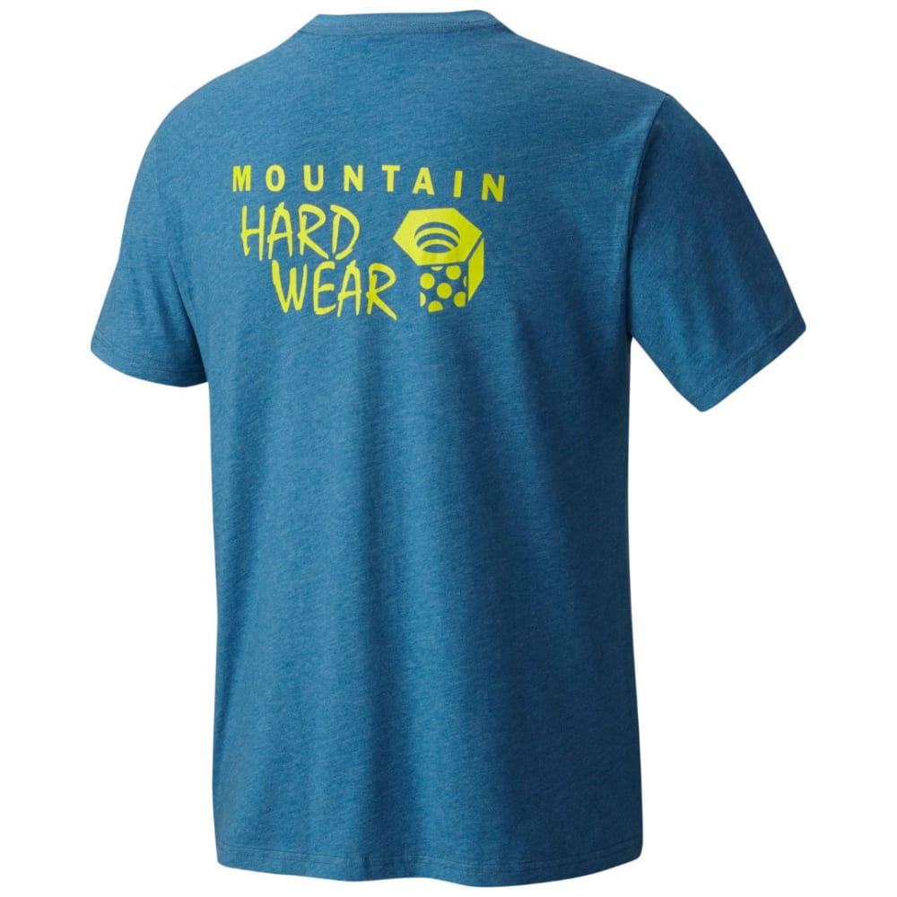MOUNTAIN HARDWEAR Men's MHW Logo Graphic Short-Sleeve Shirt - 491-HTHR PHOENIX BLU