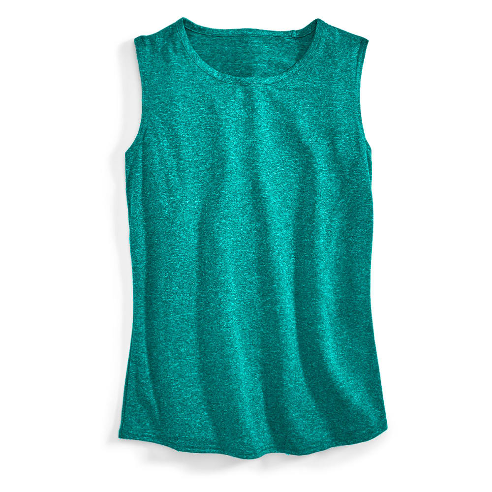 EMS Women's Techwick Essence Muscle Tank - QUETZAL GREEN HTR