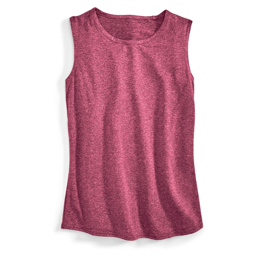 EMS® Women's Techwick Essence Muscle Tank - RED PLUM HEATHER