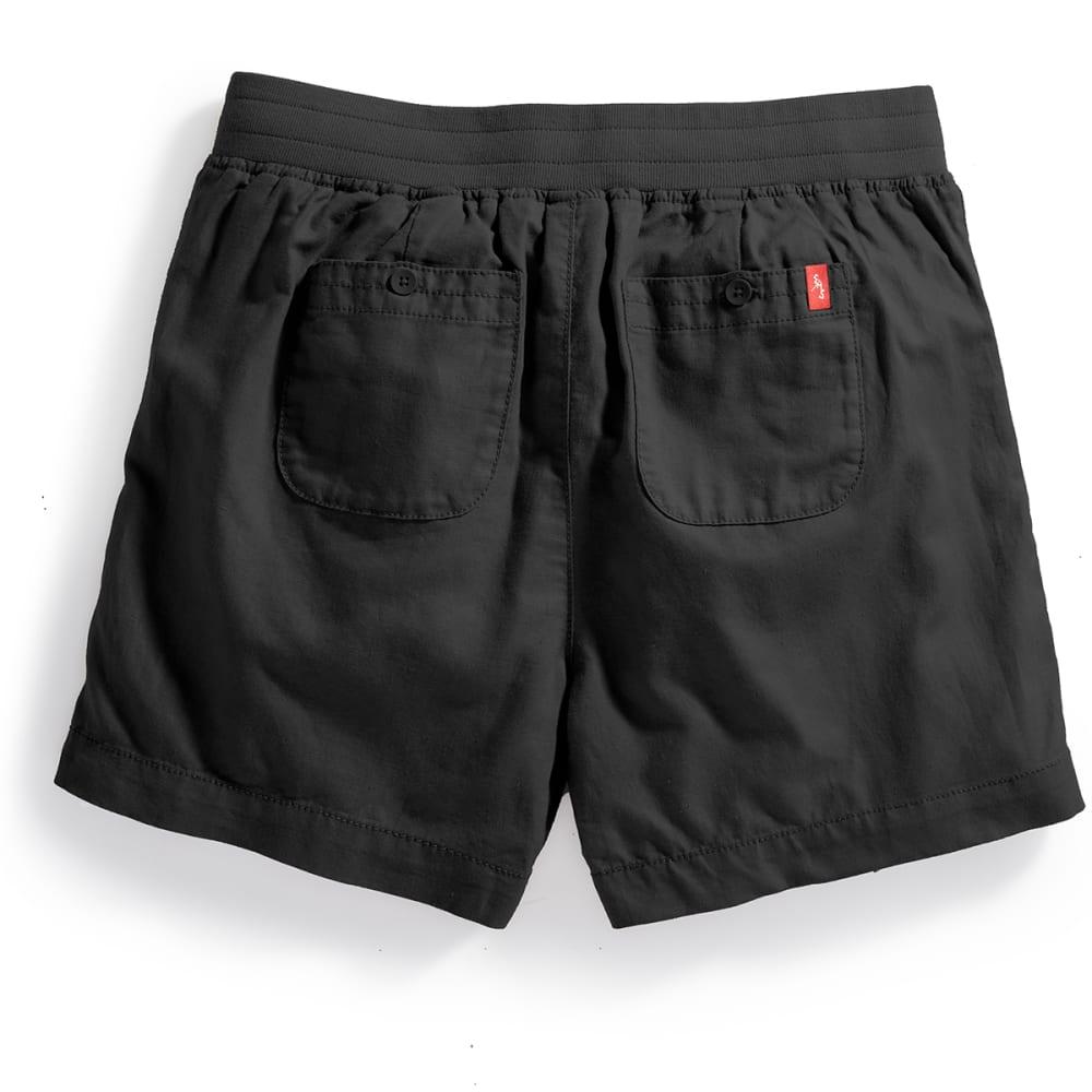 EMS® Women's Cambric Linen Shorts - BLACK