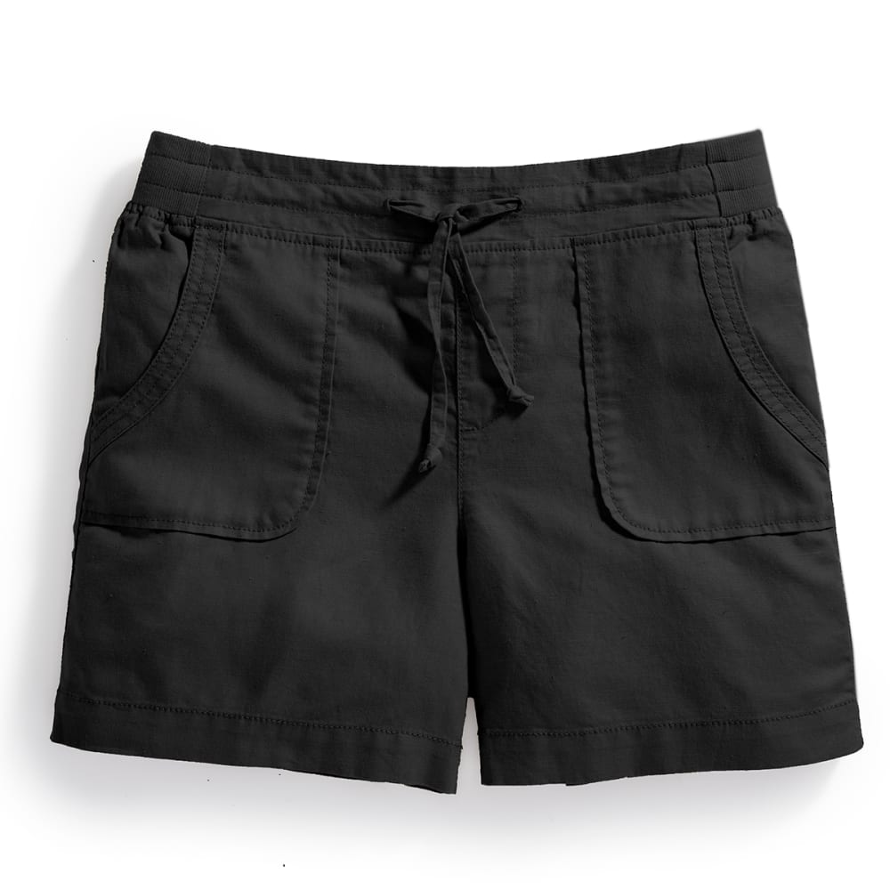 EMS® Women's Cambric Linen Shorts - BLACK