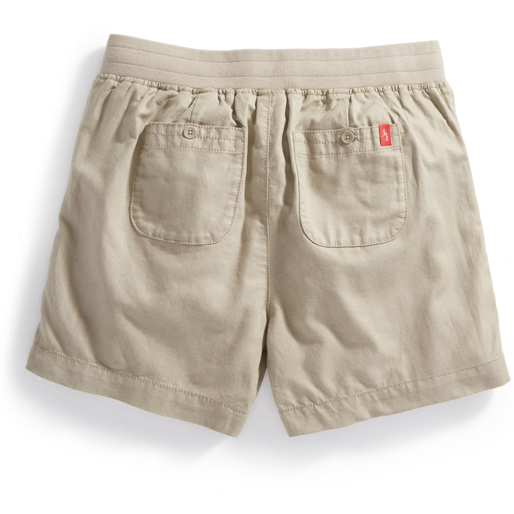EMS® Women's Cambric Linen Shorts - FOSSIL