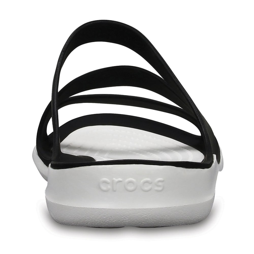 CROCS Women's Swiftwater Sandals, Black - BLK/WHT-066