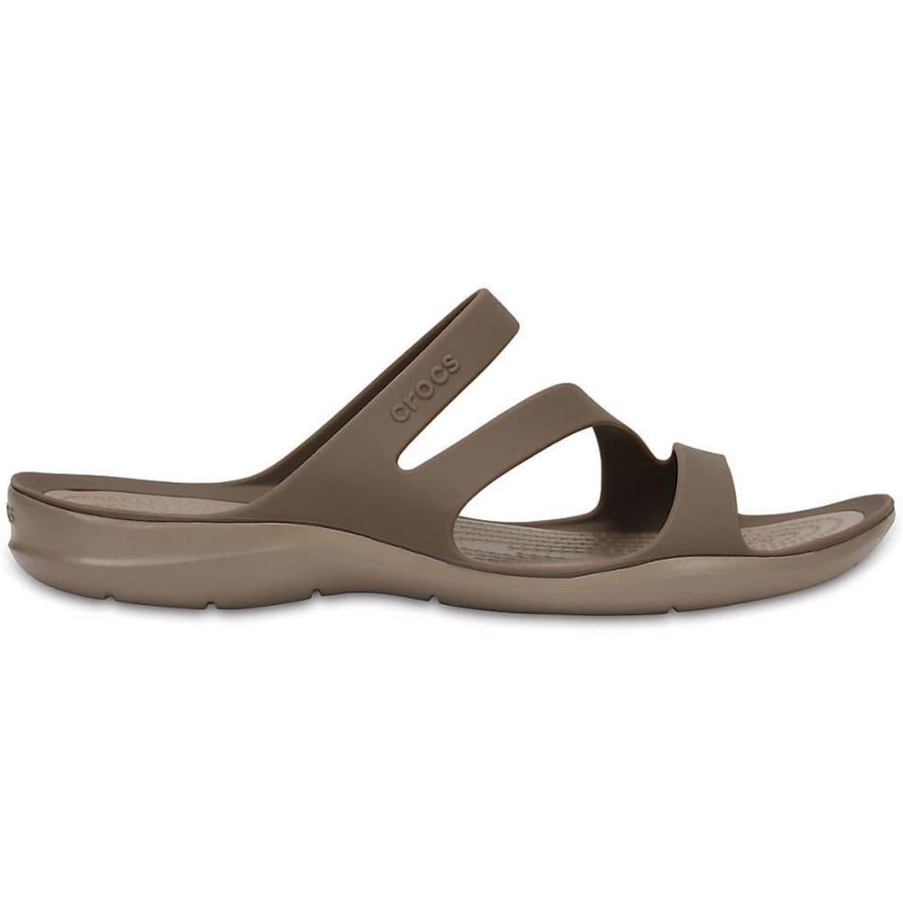 CROCS Women's Swiftwater Sandals, Walnut - WALNUT