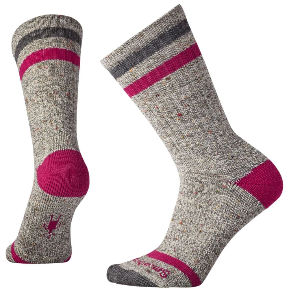 SMARTWOOL Women's Birkie Crew Socks - MEDIUM GREY HTR-834