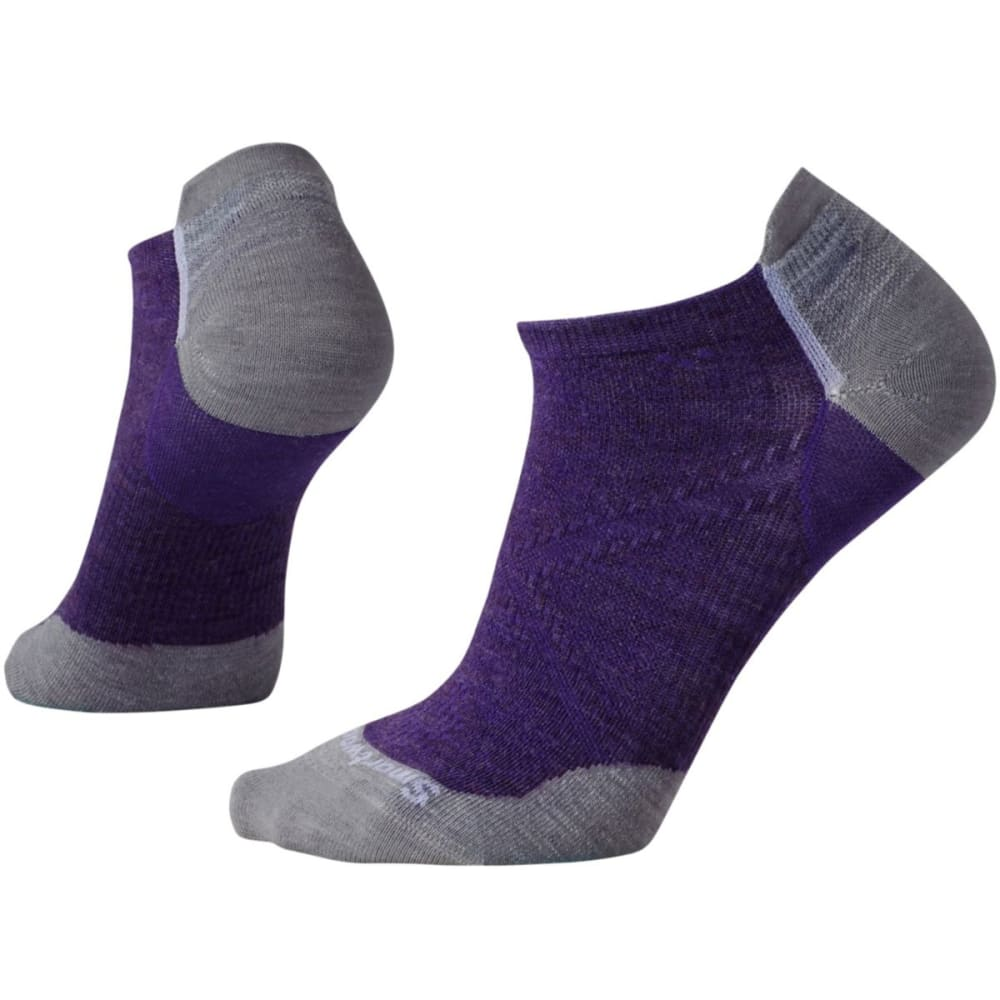 SMARTWOOL Women's PhD Cycle Ultra Light Micro Socks - MT PURPLE 591