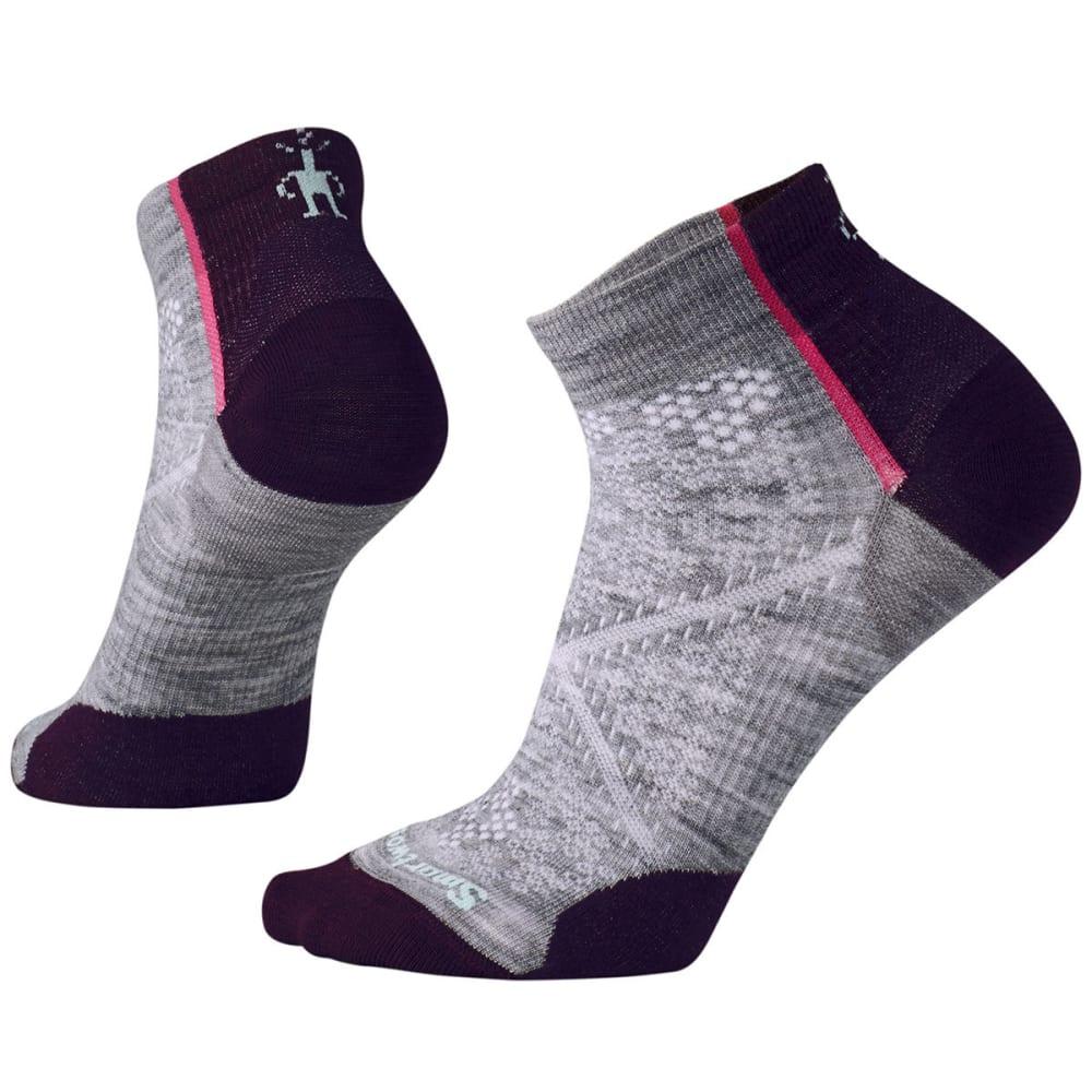 SMARTWOOL Women's PhD Cycle Ultra Light Low Cut Socks - 039-LIGHT GRAY