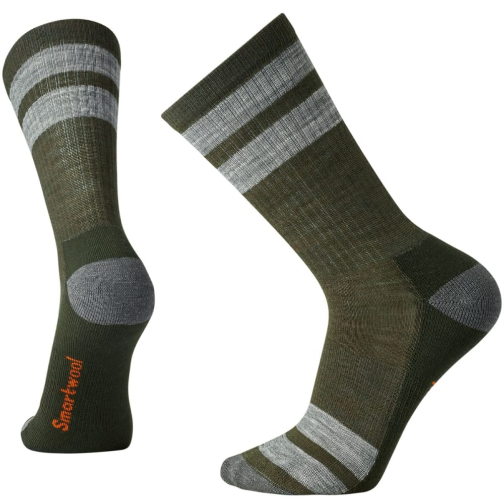 SMARTWOOL Men's Striped Hike Light Crew Socks - LODEN 31