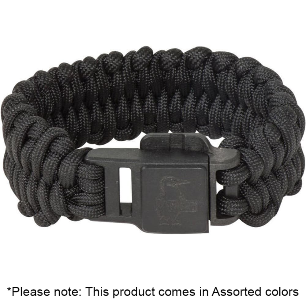 Chums Smokey Paracord Survival Bracelet Black with Fire Starter GREAT NEW