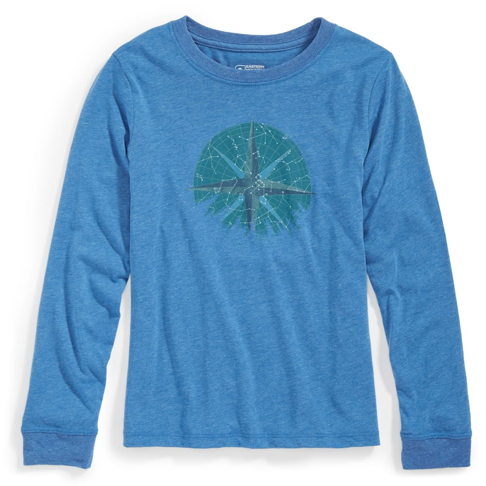 EMS® Boys' Techwick® Vital North Star Long-Sleeve Graphic Tee - DELFT LIGHT HTR