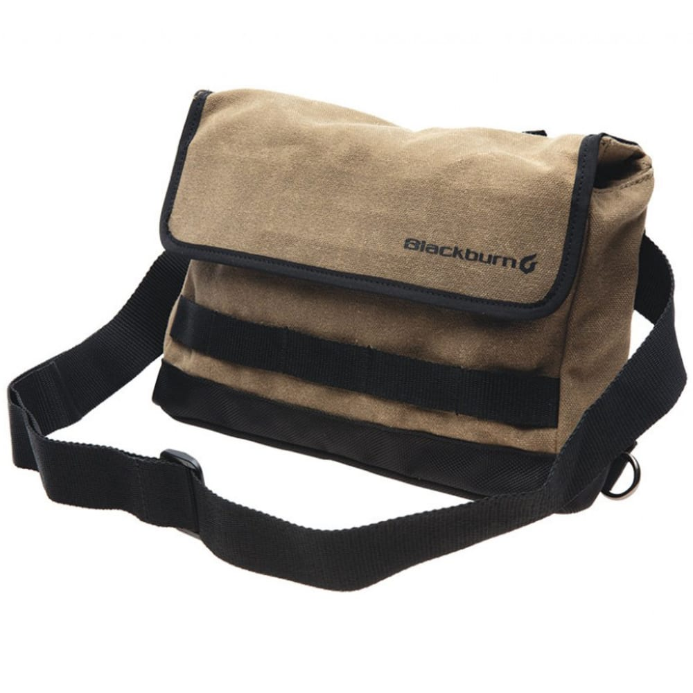 BLACKBURN Wayside Handlebar Musette Bag - BLACK/TAN