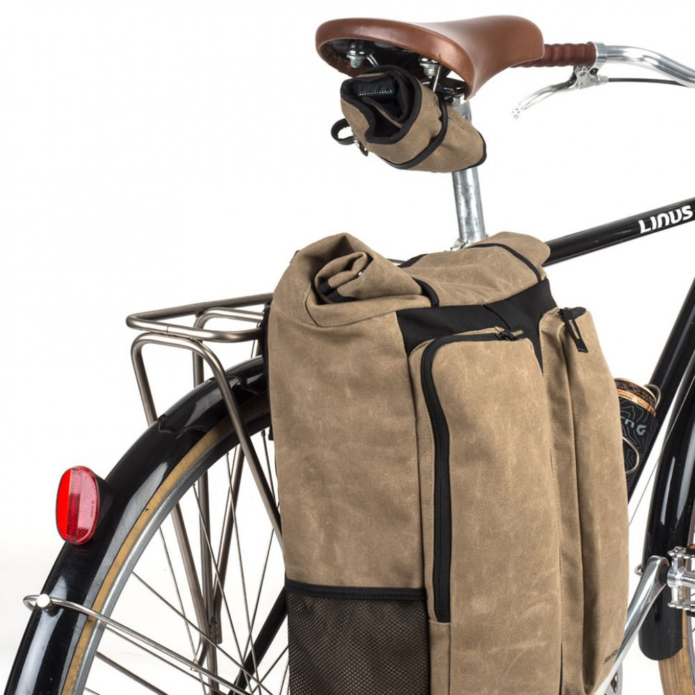 BLACKBURN Wayside Backpack and Pannier - BLACK/TAN