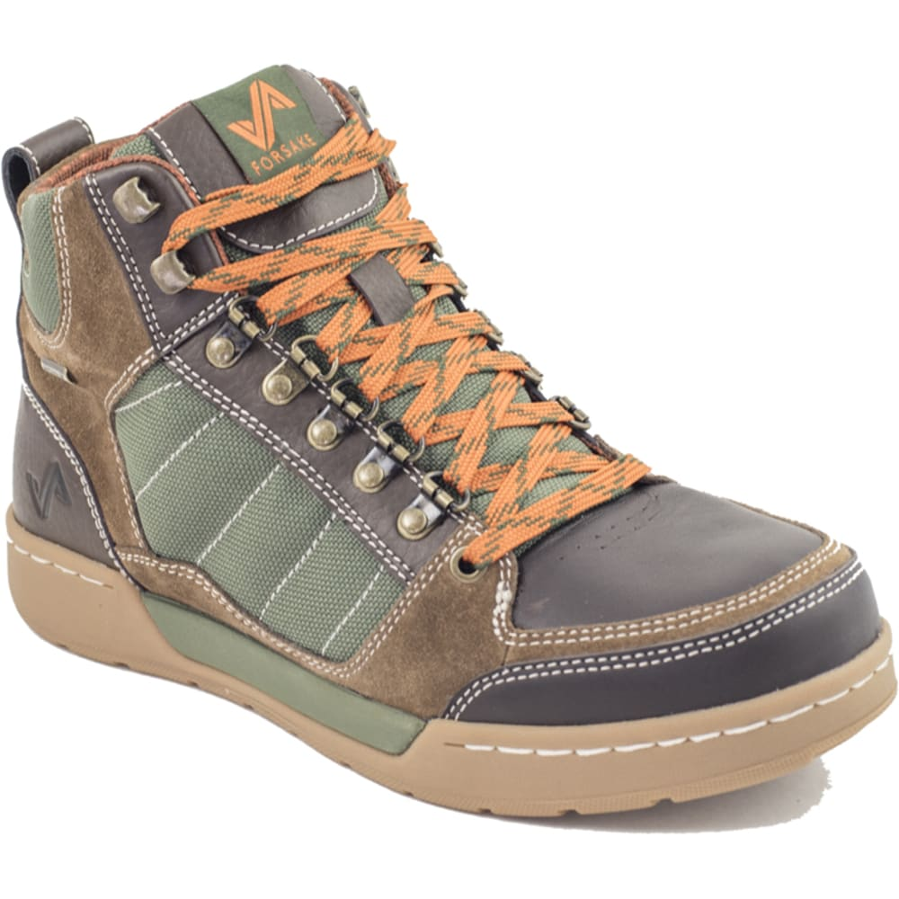FORSAKE Men's Hiker Waterproof Boots, Brown/Green - BROWN/GREEN