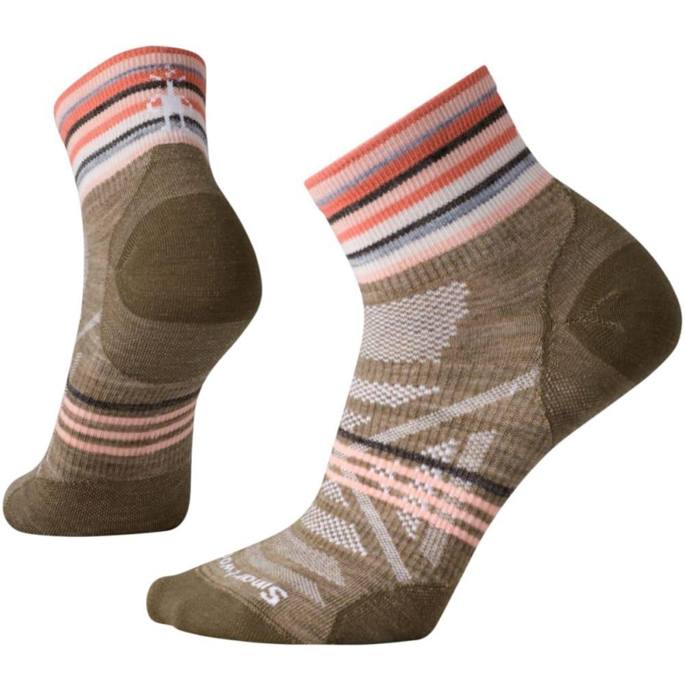 SMARTWOOL Women's PhD Outdoor Ultra-Light Pattern Mini Socks - FOSSIL 880