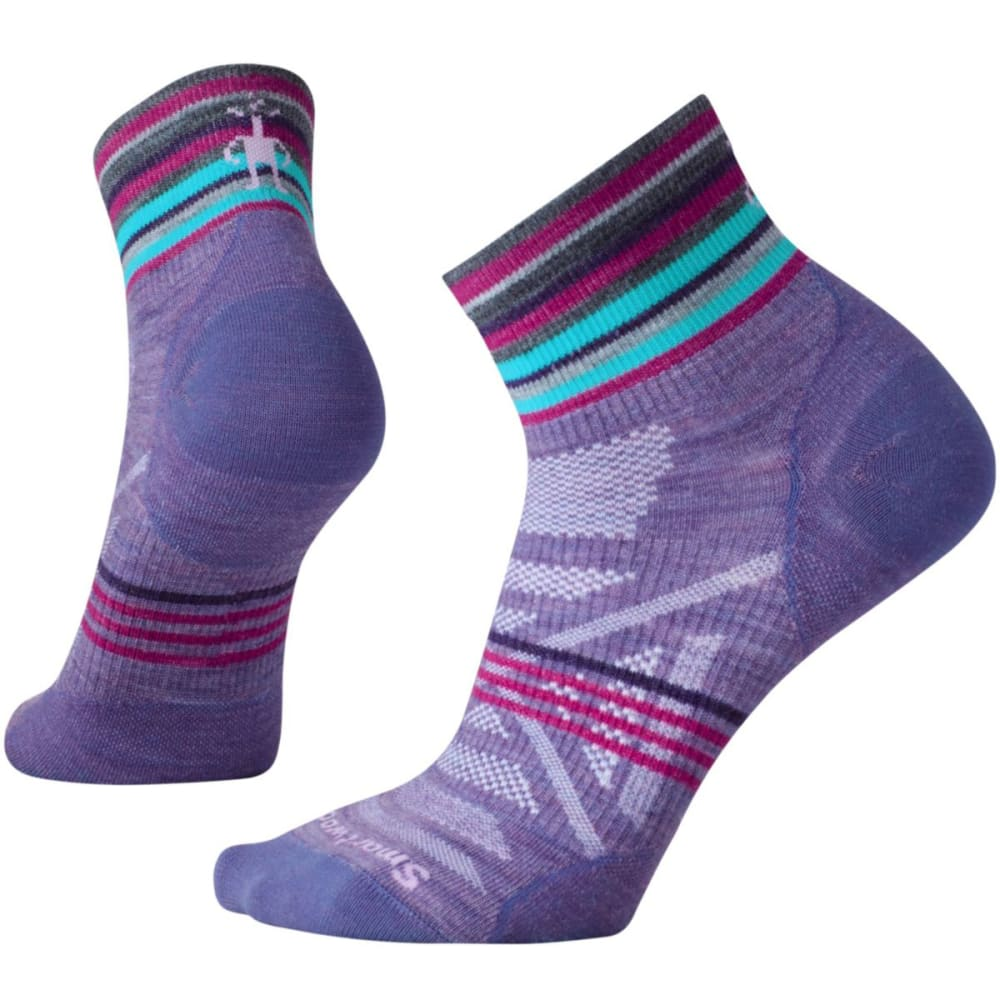 SMARTWOOL Women's PhD Outdoor Ultra-Light Pattern Mini Socks - LAVENDER-511