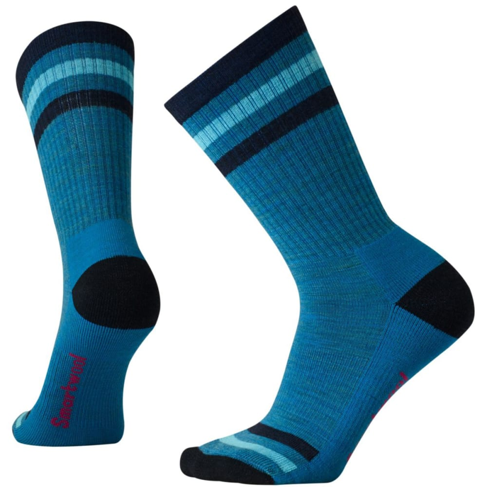 SMARTWOOL Women's Striped Hike Light Crew Socks - GLACIAL BLUE 781