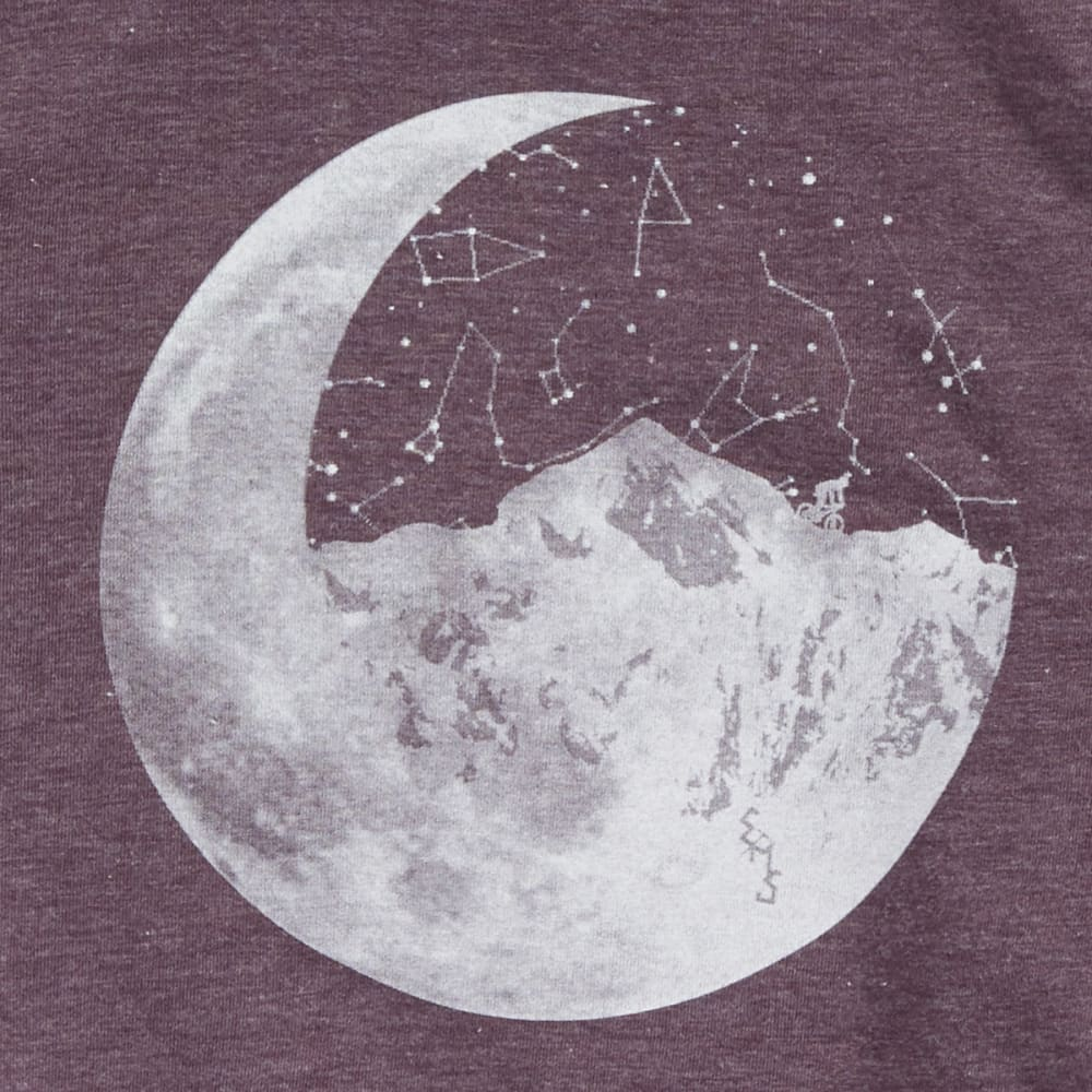 EMS Girls' Techwick Vital Ride Moon Long-Sleeve Graphic Tee - PURPLE NIGHT HTR