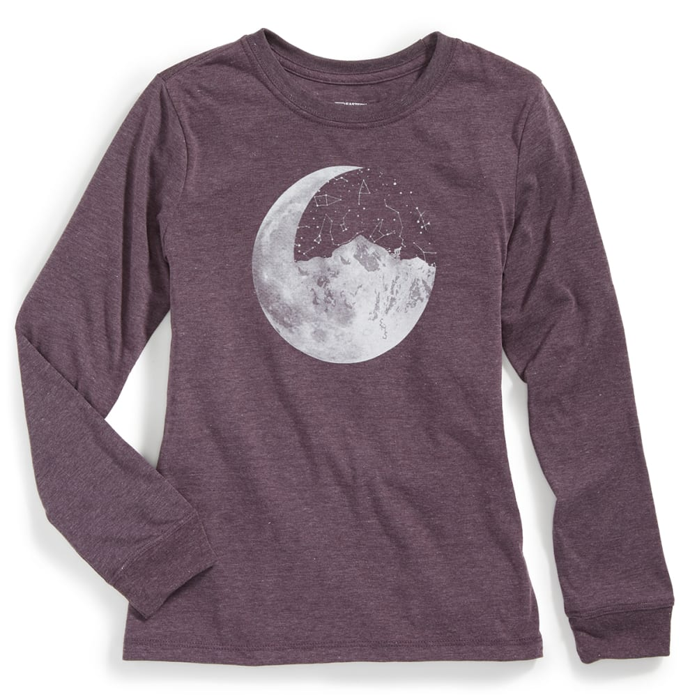EMS® Girls' Techwick® Vital Ride Moon Long-Sleeve Graphic Tee - PURPLE NIGHT HTR