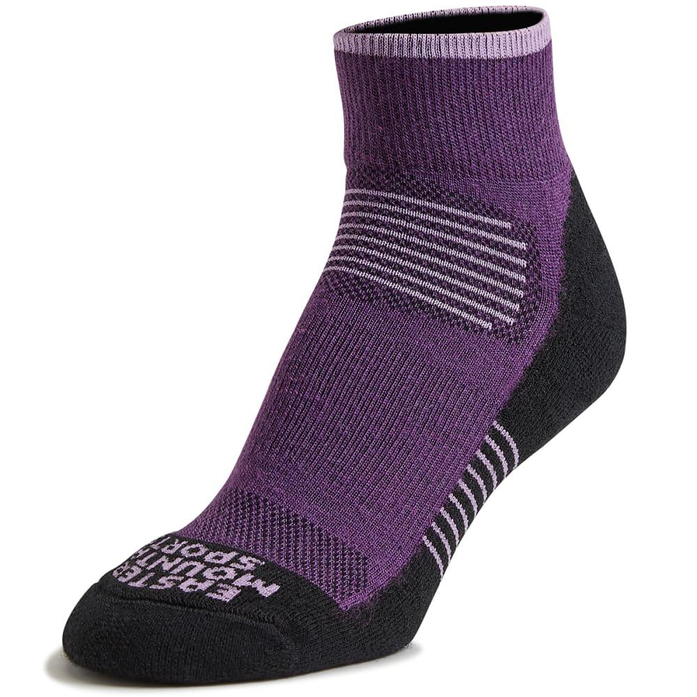 EMS Women's Track Lite Quarter Socks - PLUM