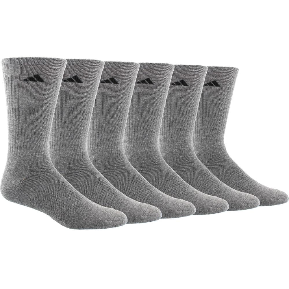 ADIDAS Men's Athletic Crew Socks, 6 Pack L