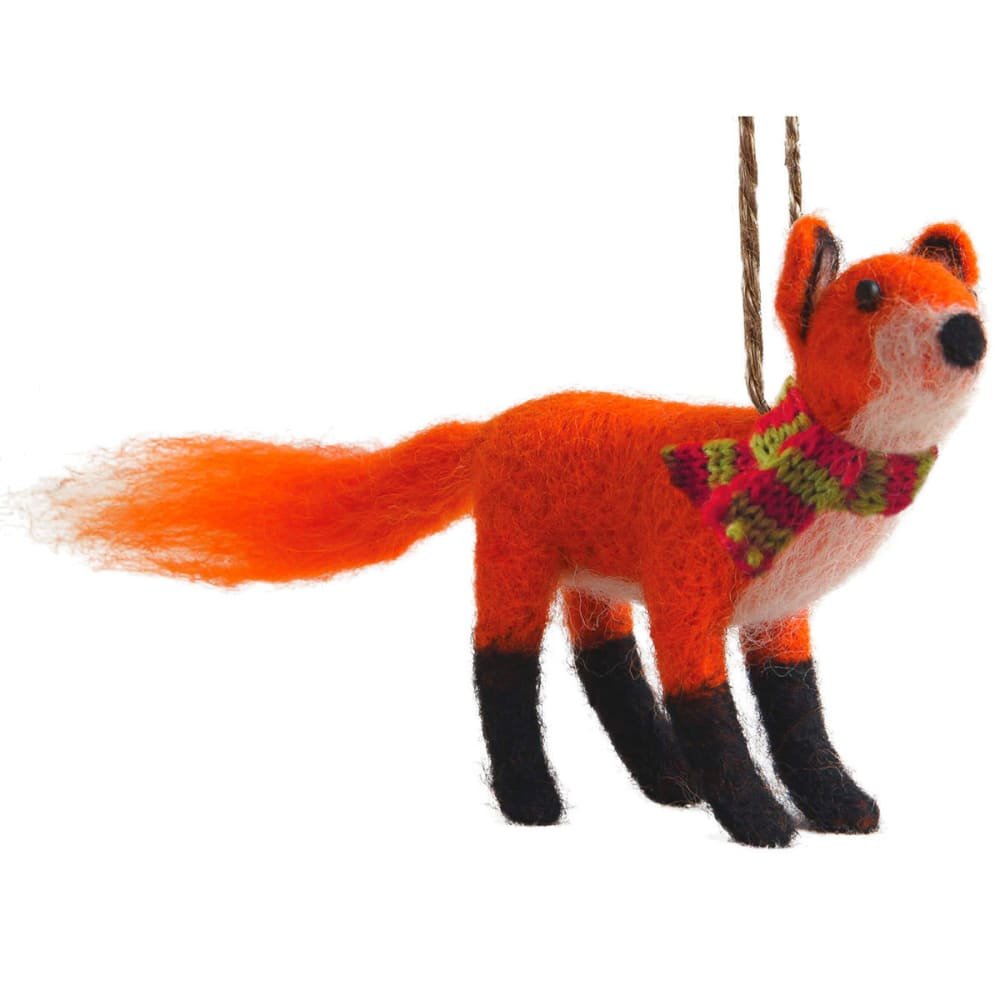 GSI OUTDOORS Felted Red Fox Ornament - RED