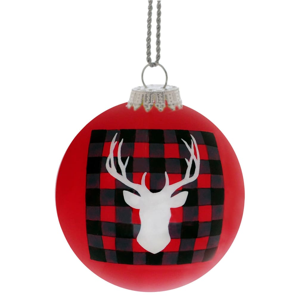 GSI OUTDOORS Red Stag Blanket Ornament - RED