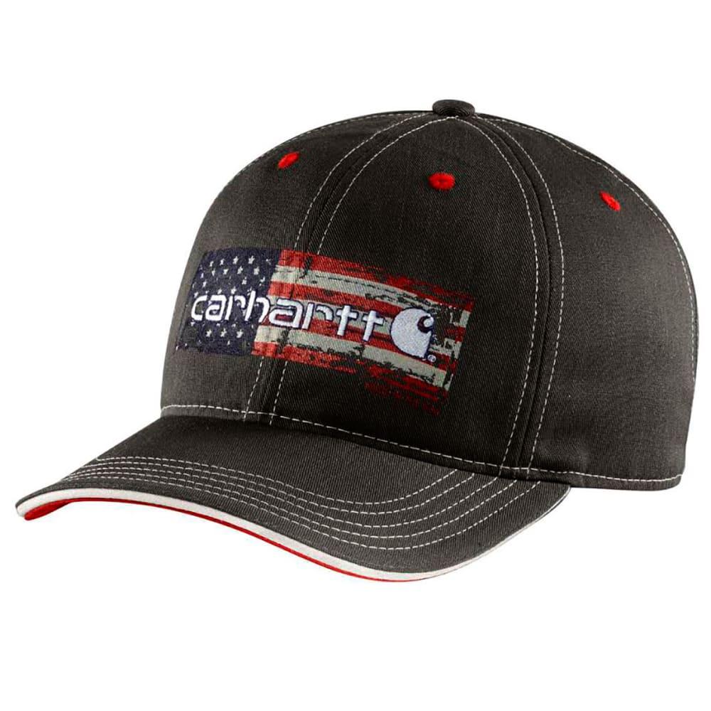 CARHARTT Men's Distressed Flag Graphic Cap - BLACK 001