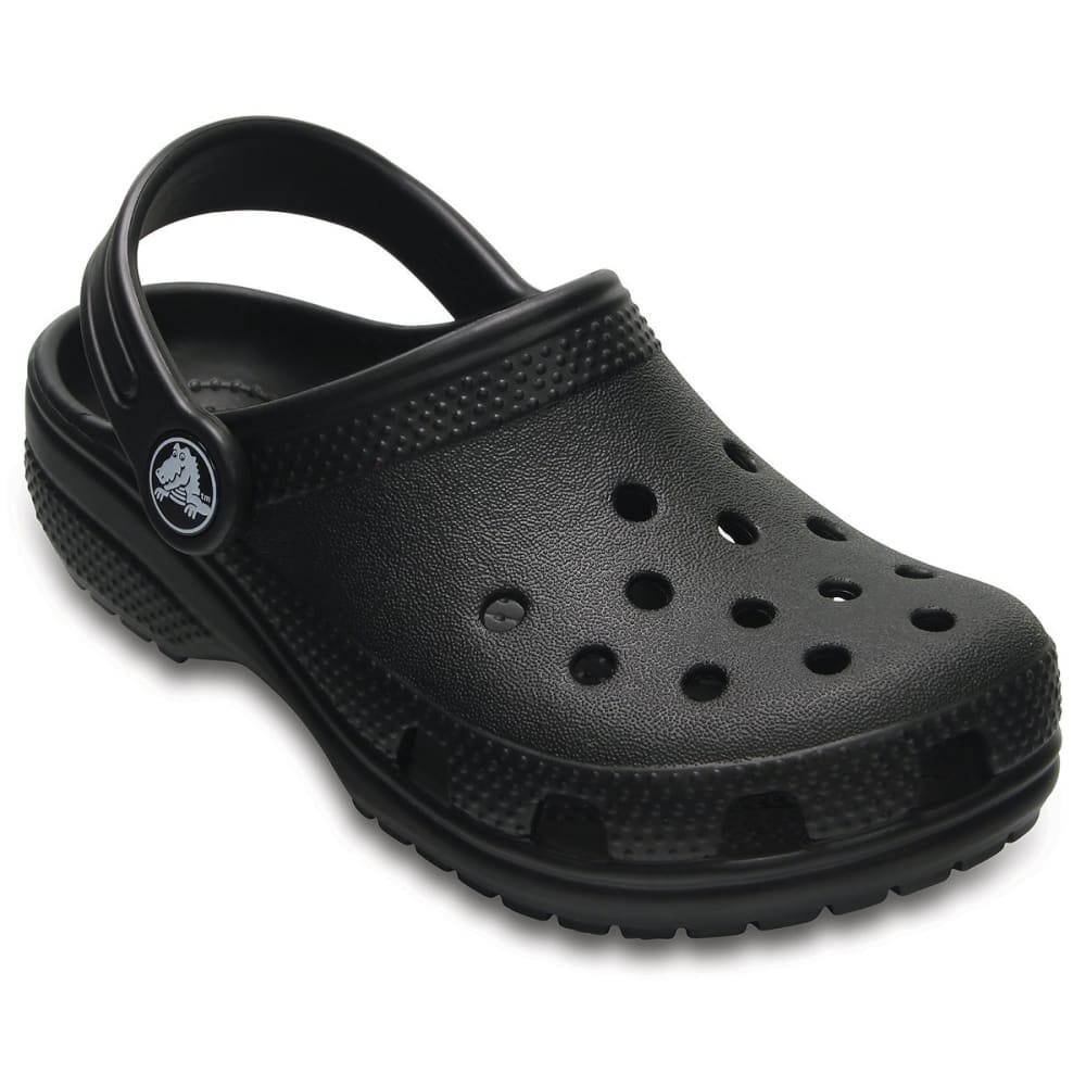 CROCS Toddler's Classic Clogs, Black 1