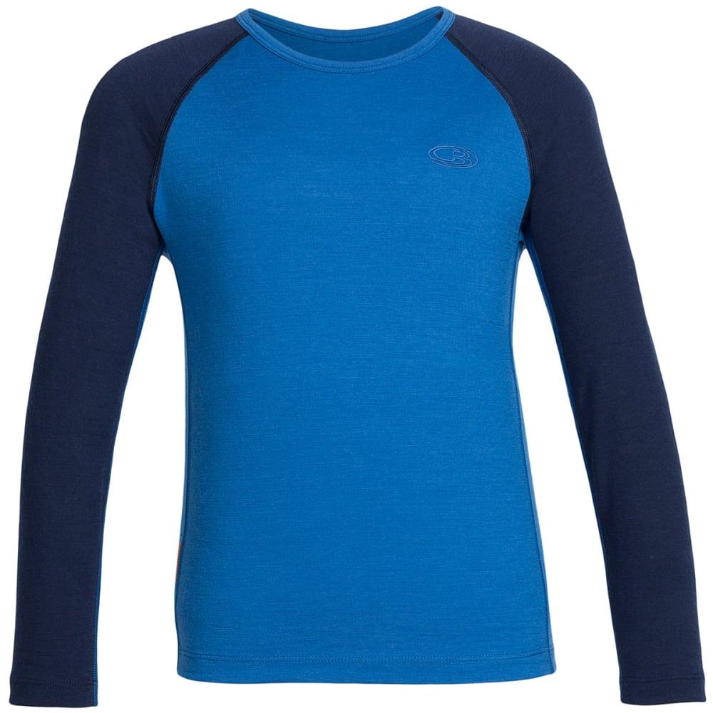 ICEBREAKER Boys' Oasis Crewneck Long-Sleeve Shirt - PELORUS/ADMIRAL 407