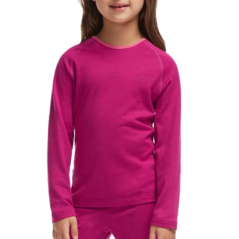 ICEBREAKER Kids' Oasis Crewneck Long-Sleeve Shirt - ALIGN POP PINK 601
