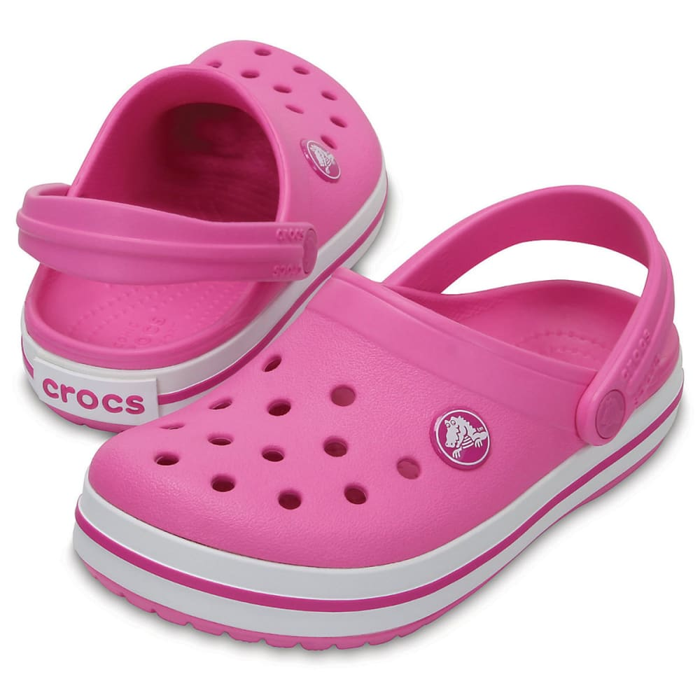 CROCS Girls' Crocband Clogs, Vibrant Violet - PARTY PINK-6U9