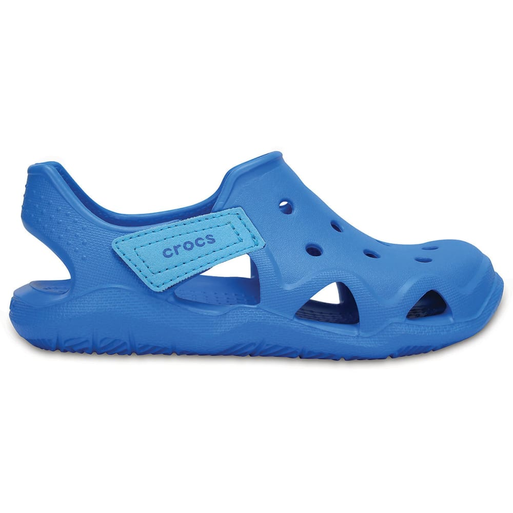 CROCS Boys' Swiftwater Wave Sandals, Ocean - OCEAN