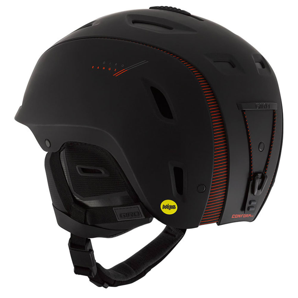 GIRO Men's Range MIPS Helmet - MATTE BLACK/RED