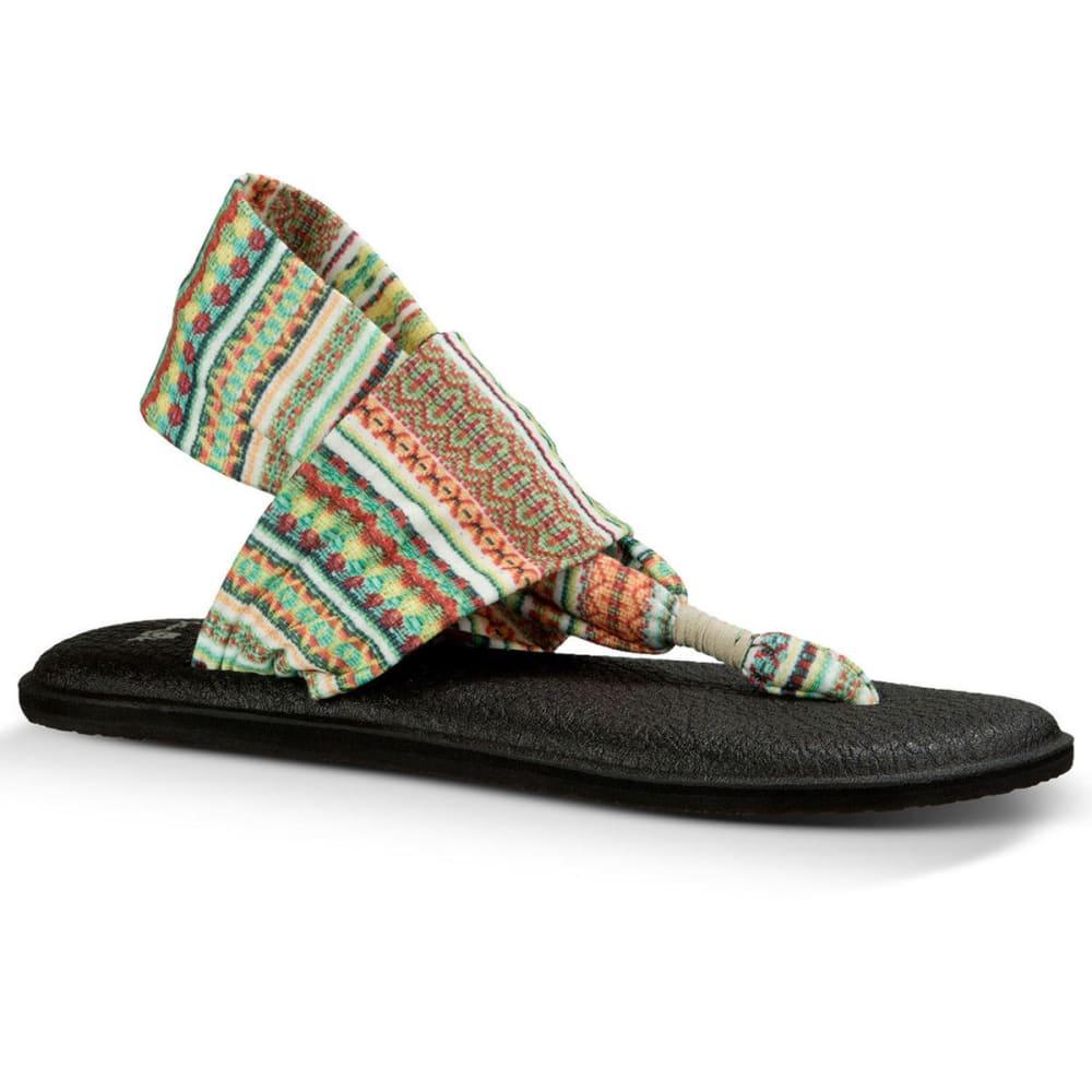 SANUK Women's Yoga Sling 2 Prints Sandals, Citrus Lanai Blanket - PRINT-CITRUS LANAI