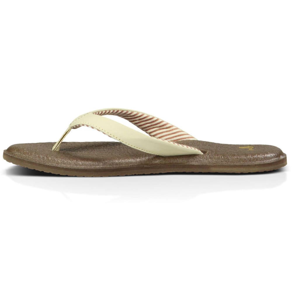 SANUK Women's Yoga Chakra Sandals, Light Natural - LIGHT NATURAL